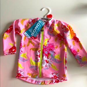 Bonds baby swim rash vest pink size 1